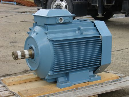 ABB motor side view