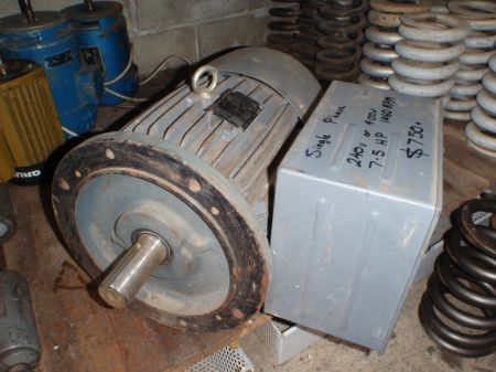 7.5hp Single Phase Electric Motor