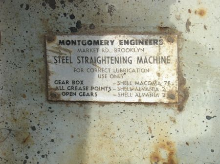 Montgomery Steel Bar Straightener