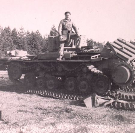 Bill dismantling a paddock full of tanks.