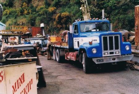 Tom loads up a customers truck, 1987