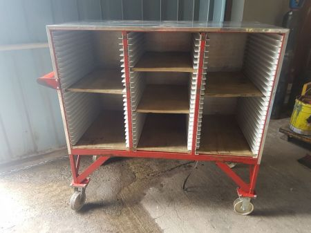 Mobile Shelving Trolleys on Castor Wheels