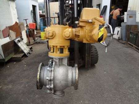200mm S/S electric servo ball valve