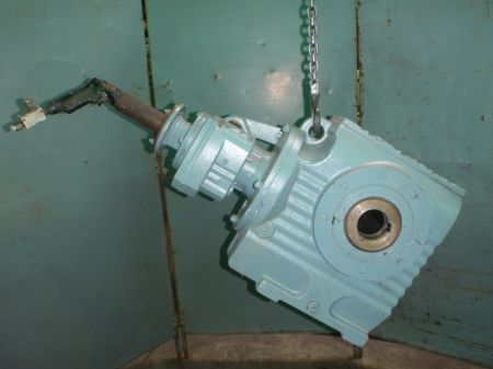 Air operated Geared motor side view
