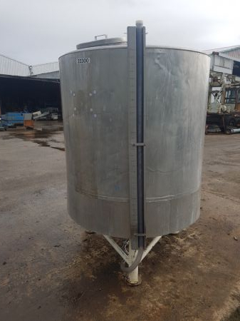 2400 Litre Stainless Steel Lagged Tank
