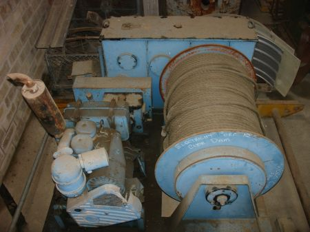 Gedi winch motor and drum