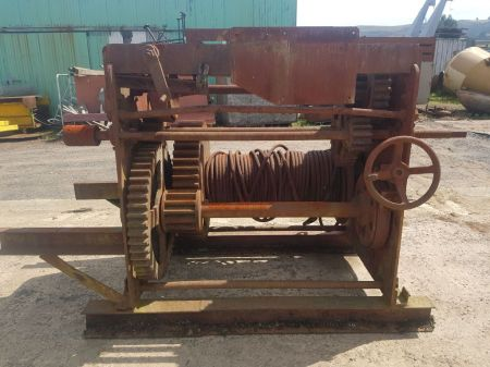 Large Old Winch Frame